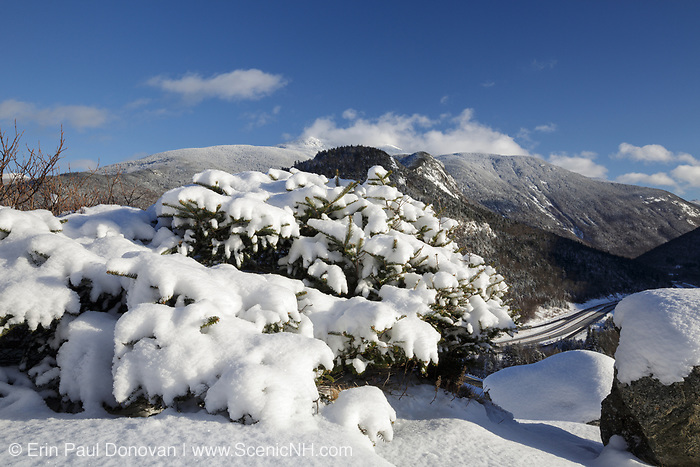 Mount Lafayette from Artists Bluff in Franconia Notch State Park of the New Hampshire White Mountains.
