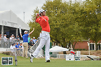 Jon Rahm (ESP) watches his tee shot on 7 during day 3 of the World Golf Championships, Dell Match Play, Austin Country Club, Austin, Texas. 3/23/2018.<br /> Picture: Golffile | Ken Murray<br /> <br /> <br /> All photo usage must carry mandatory copyright credit (&copy; Golffile | Ken Murray)