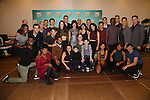 """The ensemble cast during the photocell for """"A Bronx Tale - The New Musical""""  at the New 42nd Street Studios on October 21, 2016 in New York City."""