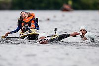 2016 06 26 Disabled Poppy Jones takes part in triathlon, Cardiff, UK