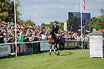 Stamford, Lincolnshire, United Kingdom, 8th September 2019, Sir Mark Todd does a lap of honour after retiring from eventing during the Show Jumping Phase on Day 4 of the 2019 Land Rover Burghley Horse Trials, Credit: Jonathan Clarke/JPC Images