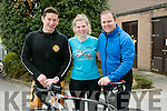 John Kelliher, Thomasina Stout, Barry O'Mahony at the South Campus ITT  triathlon on Monday