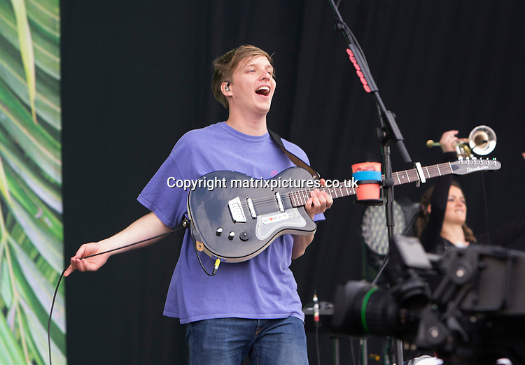 PICTURE: GRAHAM READING / MATRIXPICTURES.CO.UK<br /> PLEASE CREDIT ALL USES<br /> <br /> WORLD RIGHTS<br /> <br /> English singer-songwriter George Ezra performs at the Isle of Wight Festival in England.<br /> <br /> JUNE 11th 2017<br /> <br /> REF: GRG 171247