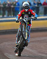 Richard Lawson of Belle Vue Aces during Poole Pirates vs Belle Vue Aces, Elite League Speedway at The Stadium on 11th April 2018