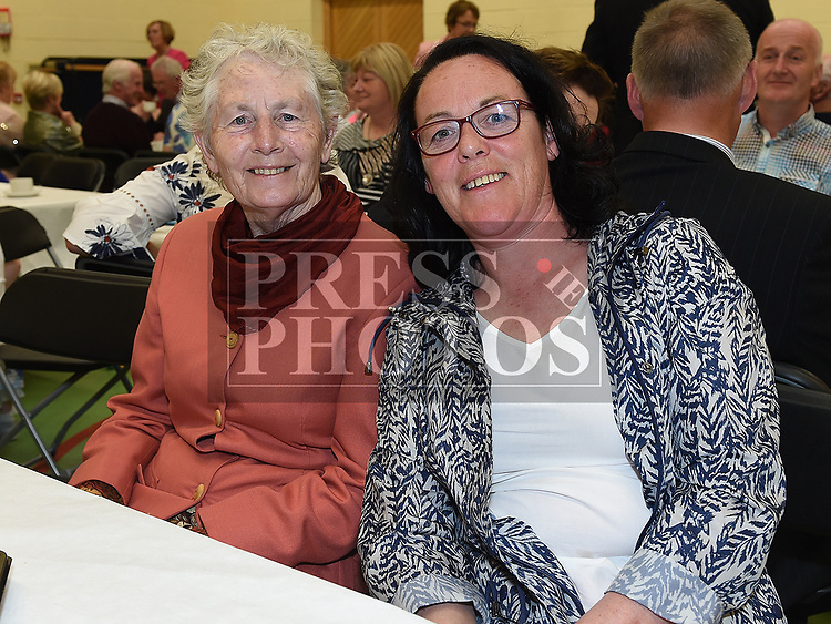Deirdre McMahon and Eileen Aiken at the after mass party in the Monastery National School Ardee for Canon Peter Murphy who was celebrating 40 years in the priesthood. Photo:Colin Bell/pressphotos.ie