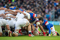 Twickenham, United Kingdom. 7th February, Arthur ITURRIA, packs down., England vs France, 2019 Guinness Six Nations Rugby Match   played at  the  RFU Stadium, Twickenham, England, <br /> &copy; PeterSPURRIER: Intersport Images