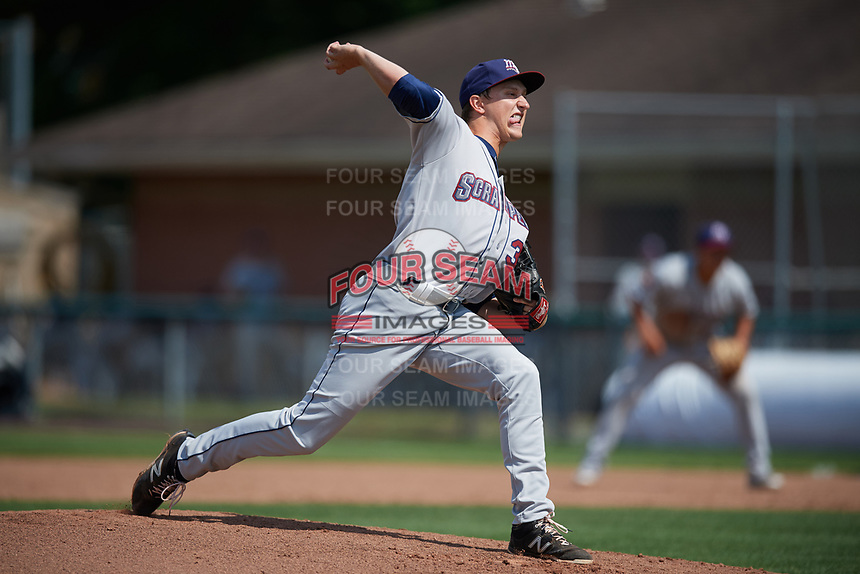 Mahoning Valley Scrappers relief pitcher Cameron Mingo (37) delivers a pitch during the second game of a doubleheader against the Auburn Doubledays on July 2, 2017 at Falcon Park in Auburn, New York.  Mahoning Valley defeated Auburn 3-2.  (Mike Janes/Four Seam Images)