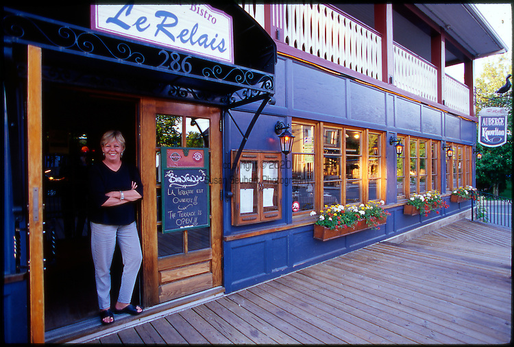 Auberge Knowlton and Le Relais Restaurant in Knowlton is owned by Signy Stephenson (pictured here) and her husband Michel Gaberreau