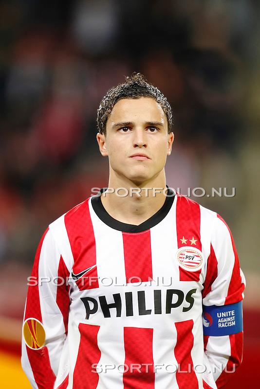 Nederland,Eindhoven, 16 september 2010.Europa League.Seizoen 2010-2011.PSV-Sampdoria (1-1).Aanvoerder Ibrahim Afellay van PSV