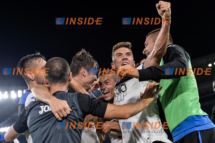 Marten De Roon of Atalanta celebrating after scores a goal  <br /> Roma 25-9-2019 Stadio Olimpico <br /> Football Serie A 2019/2020 <br /> AS Roma - Atalanta Bergamasca Calcio <br /> Foto Antonietta Baldassarre / Insidefoto