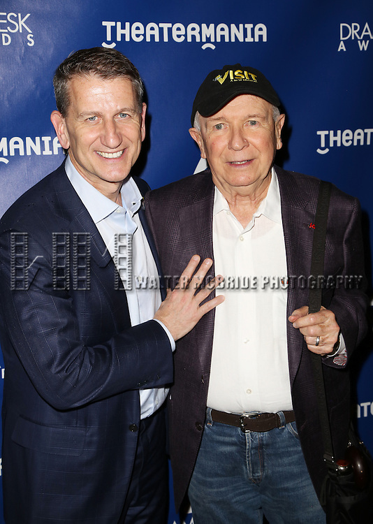 Terrence McNally and Tom Kirdahy attends the 2015 Drama Desk Awards at Town Hall on May 31, 2015 in New York City.