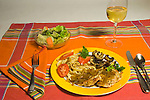 Sauteed filets of grouse breast with onion-balsamic piquante sauce and large egg noodles