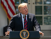 United States President Donald J. Trump makes remarks on modernizing our immigration system for a stronger America at the White House in Washington, DC, May 16, 2019. h Credit: Chris Kleponis / CNP