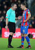 9th December 2017, Selhurst Park, London, England; EPL Premier League football, Crystal Palace versus Bournemouth; Referee Kevin Friend talks to James McArthur of Crystal Palace before a Bournemouth free kick