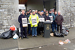 Drogheda Corporation workers picketing outside the corporation offices in Drogheda..Picture: Paul Mohan/Newsfile.NO BYLINE PLEASE