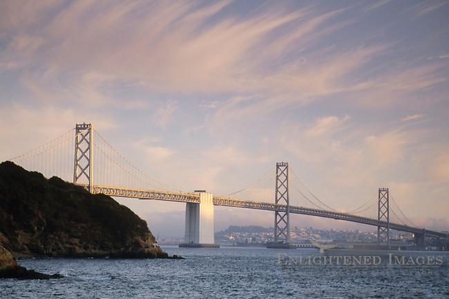 San Francisco - Oakland Bay Bridge, from Treasure Island, San Francisco, California