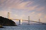 San Francisco - Oakland Bay Bridge, from Treasure Island, San Francisco, California