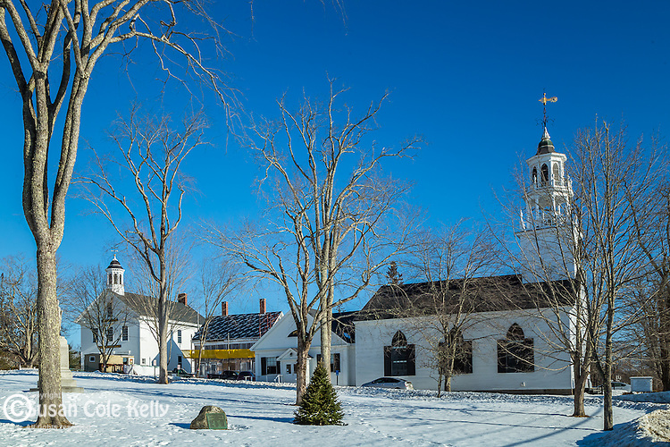 The Castine Town Common in Castine, Maine, USA
