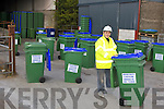 John Higgins Waste and refuge bin collector at his yard on Tuesday....