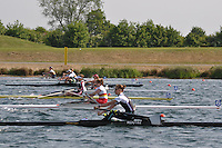 Wallingford Rowing Club Regatta 2011. Dorney..Women's singles at the start.