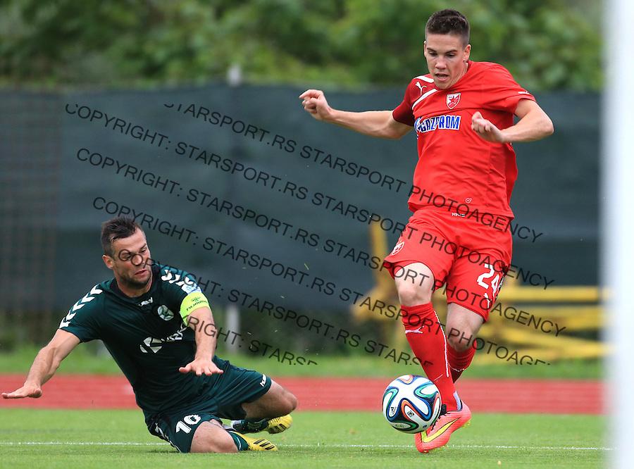 Fudbal season 2013-2014<br /> FK Crvena Zvezda pripreme<br /> Crvena Zvezda v Krka<br /> Mihailo Ristic (R)<br /> Novo Mesto, 07.12.2014.<br /> foto: Srdjan Stevanovic/Starsportphoto &copy;