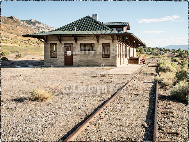 Nevada Northern train depot, McGill, Nev.