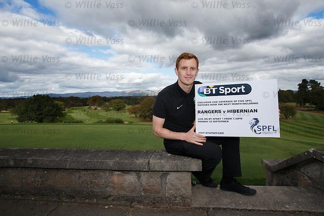 Hibernian's Liam Craig at Glenbervie Golf Club as he looks ahead to next week's Rangers v Hibs clash at Ibrox