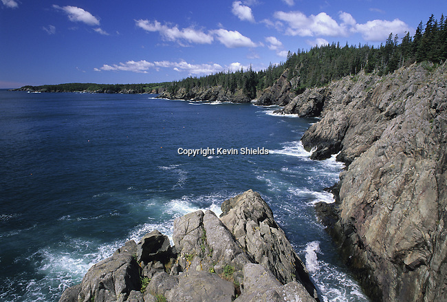 Southward view of the Cutler Coast, Cutler, Maine, USA