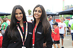 La Vuelta podium girls in the Vuelta Village before the start of Stage 4 of La Vuelta 2019 running 175.5km from Cullera to El Puig, Spain. 27th August 2019.<br /> Picture: Eoin Clarke | Cyclefile<br /> <br /> All photos usage must carry mandatory copyright credit (© Cyclefile | Eoin Clarke)