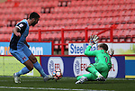 Aaron Ramsdale of Sheffield Utd makes a save during the Emirates FA Cup Round One match at Bramall Lane Stadium, Sheffield. Picture date: November 6th, 2016. Pic Simon Bellis/Sportimage