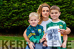 Shauna Corcoran-O'Connor with her sons Joshua and Callum  who are appealing people to keep an eye out for her Brindle Boxer who has gone missing in Mid Kerry