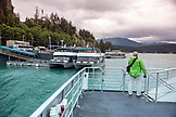 USA, Alaska, Juneau, whale watching and exploring in Stephens Passage, looking for Humpback Whales