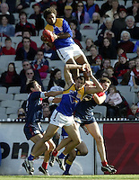 Australian Football League West Coast Eagles v Melbourne at the MCG  Ashley Sampi takes one of the all-time greatest marks.