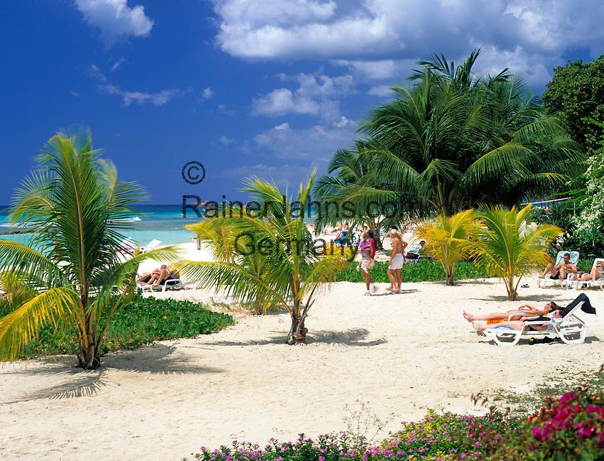 BRB, Barbados, Hastings: Strand an der Suedkueste   BRB, Barbados, Hastings: beach at the south coast