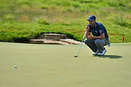 Potomac, MD - June 29, 2017: Adam Hadwin reads the green before a putt on the 14th hole during Round 1 of professional play at the Quicken Loans National Tournament at TPC Potomac at Avenel Farm in Potomac, MD, June 29, 2017.  (Photo by Don Baxter/Media Images International)