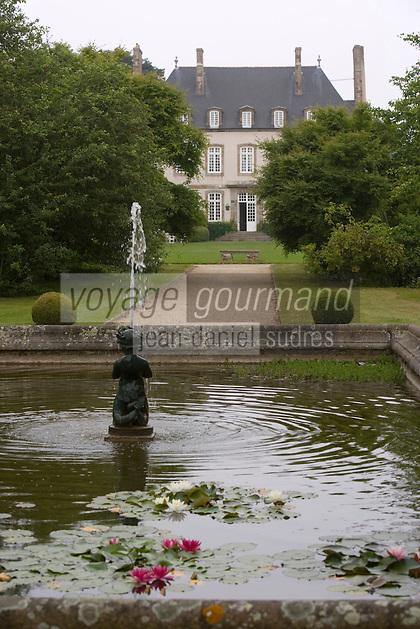 Europe/France/Bretagne/35/Ille et Vilaine/Saint-Coulomb: Malouinière de la Ville Bague ,Maison d'Armateur Malouin, le parc