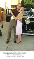 ©2001 KATHY HUTCHINS / HUTCHINS PHOTO.COPS & ROBBERS RESTURANT OPENING.6/21/01  -  TOLUCA LAKE, CA.KYLE LOWDER & NADIA BJORLIN
