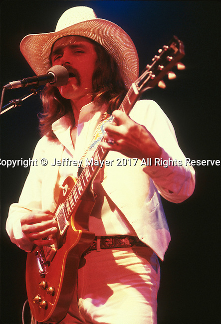 INGLEWOOD, CA - MAY 15: Dickey Betts live in concert with the Allman Brothers Band at The Forum on May 15, 1979 in Inglewood, California.