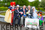 Launch of Feile na mblath Pictured Queen Of Hearts is Rachel O'Sullivan, John Drummey, President of Tralee Chamber Alliance, Tralee Mayor  Jim Finucane, Frank Hartnett,  Alice is Laura Linehan and  The Mad Hatter is Nicole O'Connor,