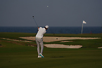 Steven Brown (ENG) on the 9th during Round 2 of the Oman Open 2020 at the Al Mouj Golf Club, Muscat, Oman . 28/02/2020<br /> Picture: Golffile | Thos Caffrey<br /> <br /> <br /> All photo usage must carry mandatory copyright credit (© Golffile | Thos Caffrey)