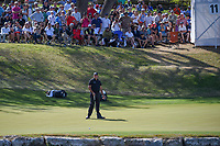 Phil Mickelson (USA) reacts to barely missing his birdie putt on 11 during round 1 of the World Golf Championships, Dell Match Play, Austin Country Club, Austin, Texas. 3/21/2018.<br /> Picture: Golffile | Ken Murray<br /> <br /> <br /> All photo usage must carry mandatory copyright credit (&copy; Golffile | Ken Murray)