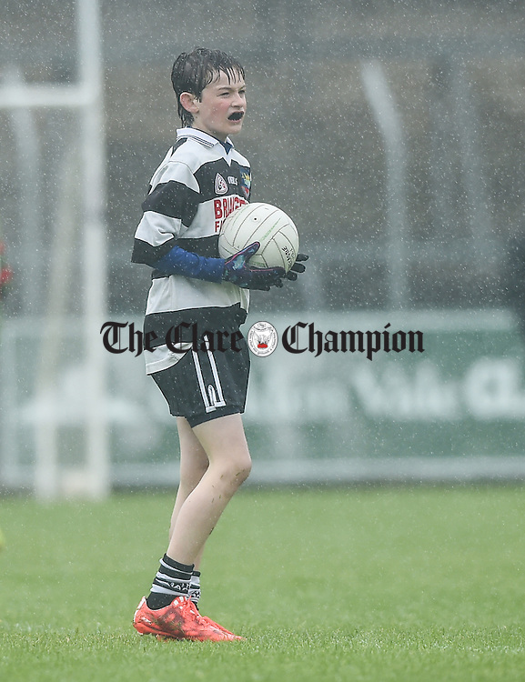 James Kelly during the U-12 football finals in Cusack park. Photograph by John Kelly.