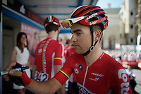 Tony Gallopin (FRA/Lotto-Soudal) signing in on the start podium<br /> <br /> 55th Brabantse Pijl 2015
