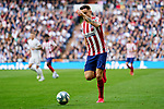 Saul Niguez of Atletico de Madrid during La Liga match between Real Madrid and Atletico de Madrid at Santiago Bernabeu Stadium in Madrid, Spain. February 01, 2020. (ALTERPHOTOS/A. Perez Meca)