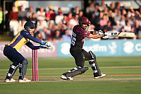 Babar Azam in batting action for Somerset during Essex Eagles vs Somerset, Vitality Blast T20 Cricket at The Cloudfm County Ground on 7th August 2019