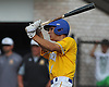 Andrew Russell #1, Kellenberg leadoff hitter, plates a run with a hit in the top of the seventh inning in Game 2 of the CHSAA varsity baseball finals against St. Anthony's at Hofstra University on Sunday, May 31, 2016. Kellenberg went on to win 5-4 to sweep the best-of-three series and take the league championship.