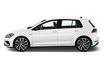 Car Driver side profile view of a 2019 Volkswagen Golf R 5 Door Hatchback Side View