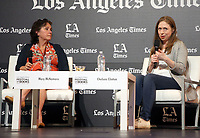 LOS ANGELES, CA -APRIL 14: Chelsea Clinton, Mary McNamara, at 2019 Los Angeles Times Festival Of Books Day 2 at University of Southern California in Los Angeles, California on April 14, 2019.<br /> CAP/MPI/FS<br /> &copy;FS/MPI/Capital Pictures