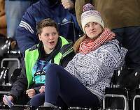 Swansea supporters during the Barclays Premier League match between Swansea City and Watford at the Liberty Stadium, Swansea on January 18 2016