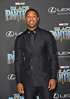 Michael B. Jordan at the world premiere for &quot;Black Panther&quot; at the Dolby Theatre, Hollywood, USA 29 Jan. 2018<br /> Picture: Paul Smith/Featureflash/SilverHub 0208 004 5359 sales@silverhubmedia.com